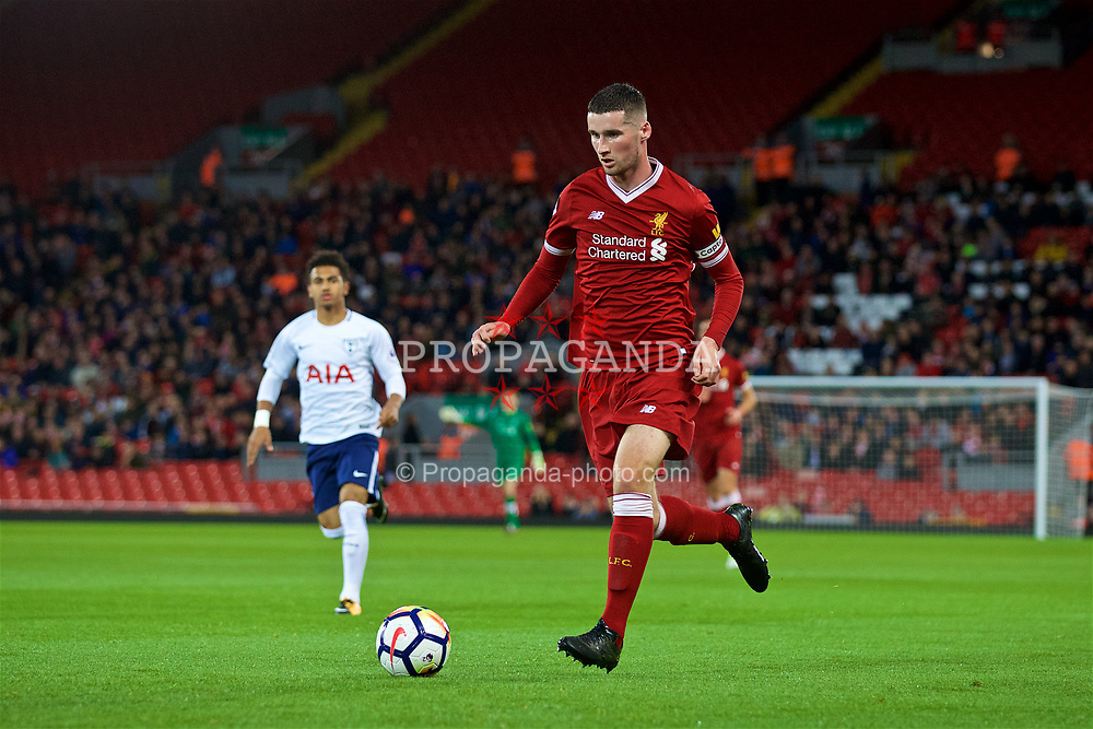 LIVERPOOL, ENGLAND - Friday, September 22, 2017: Liverpool's Corey Whelan during the Under-23 FA Premier League 2 Division 1 match between Liverpool and Tottenham Hotspur at Anfield. (Pic by David Rawcliffe/Propaganda)