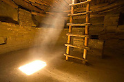Spruce Tree House Kiva, Mesa Verde, light beam