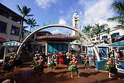 Hula Dancers, Aloha Tower, Honolulu, Oahu, Hawaii