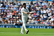 Jasprit Bumrah of India walking back to his mark to bowl during the first day of the 4th SpecSavers International Test Match 2018 match between England and India at the Ageas Bowl, Southampton, United Kingdom on 30 August 2018.