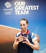 Beth Tweddle <br /> Bronze Medalist <br /> Olympics London 2012 <br /> Women's uneven bars <br /> Gynastics<br /> 6th August 2012 <br /> Press conference<br /> Team GB HQ, Stratford, London, Great Britain <br /> <br /> <br /> Beth Tweddle <br /> <br /> <br /> Photograph by Elliott Franks