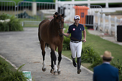 Ward McLain, USA, HH Azur<br /> Horse Inspection Jumping<br /> Olympic Games Rio 2016<br /> © Hippo Foto - Dirk Caremans<br /> 12/08/16