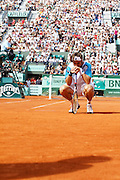 Roland Garros 2011. Paris, France. May 30th 2011..Spanish player David FERRER against Gael MONFILS
