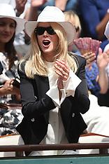 Celebrities at Roland Garros - 11 June 2017