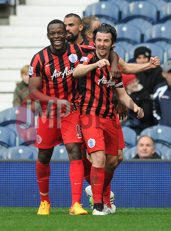Queens Park Rangers' Joey Barton celebrates with his team mates after scoring. - Photo mandatory by-line: Dougie Allward/JMP - Mobile: 07966 386802 - 04/04/2015 - SPORT - Football - West Bromwich - The Hawthorns - West Bromwich Albion v QPR - Barclays Premier League