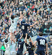 Twickenham, GREAT BRITAIN, No.6's contest the line out ball, Cambridge, Kark KURURANGI and Oxfords Daniel GUINNESS,  during the 2010 Varsity Rugby match Oxford vs Cambridge played at the RFU Stadium Twickenham, Surrey on Thursday  09/12/2010 [Photo, Peter Spurrier/Intersport-images]