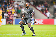 Wes Morgan of Leicester City (5) in action during the Pre-Season Friendly match between Scunthorpe United and Leicester City at Glanford Park, Scunthorpe, England on 16 July 2019.