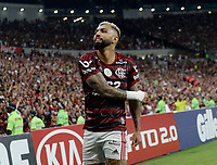 2019-11-10 Rio de Janeiro, Brazil soccer match between the teams of Flamengo and Bahia , validated by the Brazilian Football Championship .in the photo Gabigol of Flamengo  club celebrates his goal Photo by André Durão / Swe Press Photo