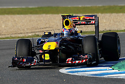 12.02.2011, Street Circuit. Jerez, ESP, Formel 1 Test 2 Valencia 2011,  im Bild Mark Webber (AUS), Red Bull Racing . EXPA Pictures © 2011, PhotoCredit: EXPA/ nph/   poleposition.at  //    **** only for AUT  & SLO ****