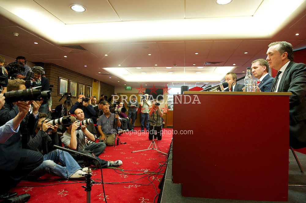 LIVERPOOL, ENGLAND - Friday, June 1, 2012: Liverpool's new manager Brendan Rodgers during a press conference to announce him as the new manager of Liverpool Football Club at Anfield. (Pic by Chris Brunskill/Propaganda)