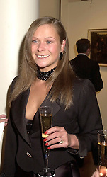 The HON.REBECCA SIEFF at an Irish Evening at Sotheby's, 34-35 New Bond Street, London W1 on 17th May 2001 in aid of The Orchid Cancer Appeal.