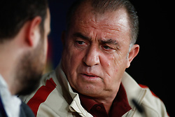 November 5, 2019, Madrid, MADRID, SPAIN: Fatih Terim, head coach of Galatasaray from Turkey, attends during the press conference prior to the UEFA Champions League football match against Real Madrid CF at Santiago Bernabeu Stadium on November 05, 2019, in Madrid, Spain. (Credit Image: © AFP7 via ZUMA Wire)