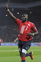 FOOTBALL - FRENCH CHAMPIONSHIP 2010/2011 - L1 - LILLE OSC v GIRONDINS BORDEAUX  - 16/04/2011 - PHOTO JEAN MARIE HERVIO / DPPI - JOY MOUSSA SOW (LOSC) AFTER HIS GOAL