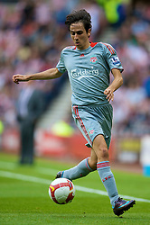 SUNDERLAND, ENGLAND - Saturday, August 16, 2008: Liverpool's Yossi Benayoun in action against Sunderland during the opening Premiership match of the season at the Stadium of Light. (Photo by David Rawcliffe/Propaganda)