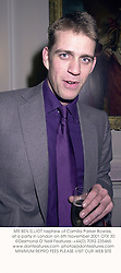 MR BEN ELLIOT nephew of Camilla Parker Bowles, at a party in London on 6th November 2001.	OTX 30