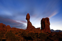 UT00118-00...UTAH - Balanced Rock in Arches National Park.