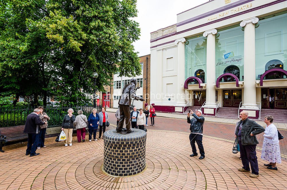 Hull, Saturday 1st September 2012. Statue of Hull Born singer David Whitfield which was unveiled on 31 August 2012