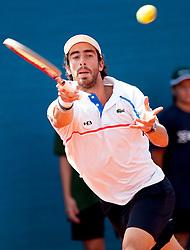 Pablo Cuevas of Uruguay during a tennis match against the Fabio Fognini of Italy in semi-final of singles at 25th Vegeta Croatia Open Umag, on July 27, 2014, in Stella Maris, Umag, Croatia. Photo by Urban Urbanc / Sportida