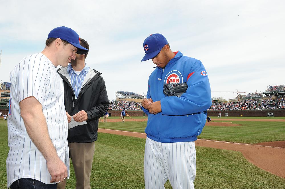 (AP Photo/Micah Tapman)Reds @ Cubs May 4,  2013