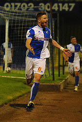 Bristol Rovers' Matt Harrold celebrates after scoring - Photo mandatory by-line: Seb Daly/JMP - Tel: Mobile: 07966 386802 27/09/2013 - SPORT - FOOTBALL - Roots Hall - Southend - Southend United V Bristol Rovers - Sky Bet League Two