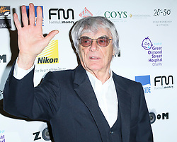 © London News Pictures. Bernie Ecclestone, Zoom Formula 1 Charity Photographic Auction, InterContinental London, London UK, 07 February 2014. Photo credit:  Richard Goldschmidt/LNP