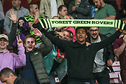 FGR supporters during the EFL Cup match between Bournemouth and Forest Green Rovers at the Vitality Stadium, Bournemouth, England on 28 August 2019.