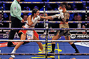 Terri Harper and Eva Wahlstrom boxing before the Kell Brook vs Mark DeLuca WBO Inter-Continental Super Welterweight fight at the FlyDSA Arena, Sheffield, United Kingdom on 8 February 2020.