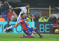 Football - 2016 / 2017 Premier League - Crystal Palace vs. Chelsea<br /> <br /> Damien Delaney of Palace tries to block a shot from Diego Costa at Selhurst Park.<br /> <br /> COLORSPORT/ANDREW COWIE