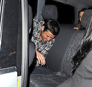 02.FEBRUARY.2011. LONDON<br /> <br /> AN UNCOMFORTABLE LOOKING THE ONLY IS ESSEX STAR MARK WRIGHT LEAVING THE MOVIDA NIGHTCLUB WITH A COUPLE OF GIRLS TRYING TO HIDE FROM THE SPOTLIGHT OF THE CAMERAS.<br /> <br /> BYLINE: EDBIMAGEARCHIVE.COM<br /> <br /> *THIS IMAGE IS STRICTLY FOR UK NEWSPAPERS AND MAGAZINES ONLY*<br /> *FOR WORLD WIDE SALES AND WEB USE PLEASE CONTACT EDBIMAGEARCHIVE - 0208 954 5968*