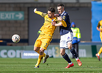 Football - 2018 / 2019 Emirates FA Cup - Sixth Round, Quarter Final : Millwall vs. Brighton<br /> <br /> Shaun Williams (Millwall FC) tries to break the run of Beram Kayal (Brighton & Hove Albion) at The Den.<br /> <br /> COLORSPORT/DANIEL BEARHAM