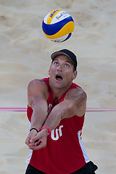 02.08.2012, Horse Guards Parade, London, GBR, Olympia 2012, Beach Volleyball, Damen, im BildAlexander Horst (AUT) // Alexander Horst of Austria during women Beach Volleyball at the 2012 Summer Olympics at Horse Guards Parade, London, United Kingdom on 2012/08/02. EXPA Pictures © 2012, PhotoCredit: EXPA/ Johann Groder