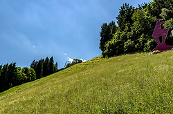 THEMENBILD - Im Blick der Zielschuss, aufgenommen am 26. Juni 2017, Kitzbühel, Österreich // In the view the Zielschuss at the Streif, Kitzbühel, Austria on 2017/06/26. EXPA Pictures © 2017, PhotoCredit: EXPA/ Stefan Adelsberger