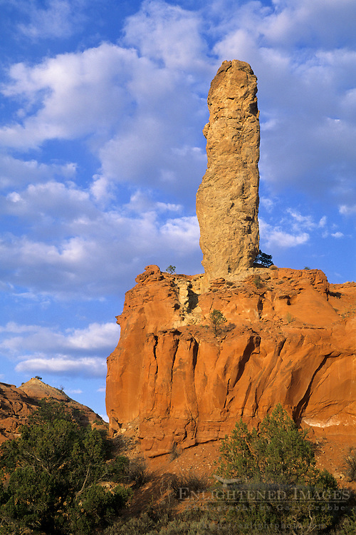 Sunset light on Chimney Rock, Kodachrome Basin State Park near Bryce Canyon, UTAH