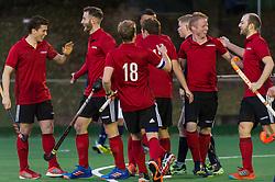 Southgate v Cambridge City - Men's Hockey League East Conference, Trent Park, London, UK on 11November 2017. Photo: Simon Parker