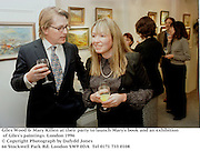 Giles Wood & Mary Killen at their party to launch Mary's book and an exhibition of Giles's paintings.. London 1996<br />