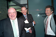 NICK KENYON; TIM CLARK; LORD HOLLICK, LA Philharmonic reception, Fountain room, Barbican. 27 January 2011 -DO NOT ARCHIVE-© Copyright Photograph by Dafydd Jones. 248 Clapham Rd. London SW9 0PZ. Tel 0207 820 0771. www.dafjones.com.