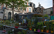 Rennes, FRANCE. General View GV. Rennes weekly regional market. Brittany,<br /> <br />  Stalls in the open and covered market  <br /> <br /> Saturday  26/04/2014 <br /> <br /> © Peter SPURRIER, <br /> <br /> NIKON CORPORATION  NIKON D700  f7.1  1/250sec  24mm  1.6MB