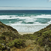 Landscape view from the Great Ocean Road.