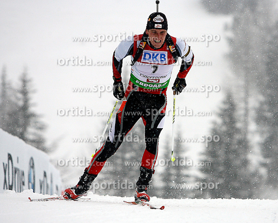 15.12.2011, Biathlonzentrum, Hochfilzen, AUT, E.ON IBU Weltcup, 3. Biathlon, Hochfilzen, Sprint Maenner, im Bild Friedrich Pinter (AUT) // during Sprint men E.ON IBU World Cup 3th Biathlon, Hochfilzen, Austria on 2011/12/15. EXPA Pictures © 2011, PhotoCredit: EXPA/ Oskar Hoeher
