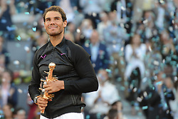 May 14, 2017 - Madrid, Spain - RAFAEL NADAL OF Spain in the final of the Mutua Madrid Open tennis tournament. (Credit Image: © Christopher Levy via ZUMA Wire)