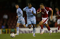Photo: Rich Eaton.<br /> <br /> Bristol City v Manchester City. Carling Cup. 29/08/2007. Man City's Emile Mpenza who scored his teams first goal, attacks.