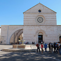 ASSISI, ITALY - OCTOBER 03:  A general view of the church of Santa Chiara is seen in Assisi ahead of the visit of Pope Francis on October 3, 2013 in Assisi, Italy. Pope Francis is due to venerate the tomb of San Francesco of Assisi tomorrow during his one-day visit to the city.  (Photo by Marco Secchi/Getty Images)