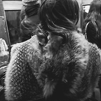 A women exits the Moscow Metro