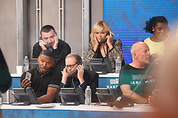 """Celebrities at the """"Hand to hand"""" telethon in Times square, New York City. 12 Sep 2017 Pictured: Sam Smith, Jamie Foxx, Steve Buscemi. Photo credit: MEGA TheMegaAgency.com +1 888 505 6342"""