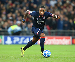 November 6, 2018 - London, England, United Kingdom - London, England - November 06, 2018.Steven Bergwijn of PSV Eindhoven.during Champion League Group B between Tottenham Hotspur and PSV Eindhoven at Wembley stadium , London, England on 06 Nov 2018. (Credit Image: © Action Foto Sport/NurPhoto via ZUMA Press)