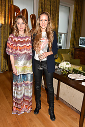 Left to right, Rosie Fortescue and Hum Fleming  at the Rosie Fortescue Jewellery Launch, Brown's Hotel London England. 10 May 2017.<br /> Photo by Dominic O'Neill/SilverHub 0203 174 1069 sales@silverhubmedia.com