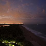 Singer Island, Florida at night.