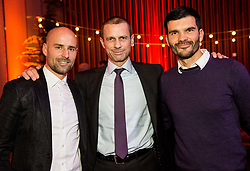 Miso Brecko, Aleksander Ceferin, president of UEFA and Aleksandar Radosavljevic during Traditional New Year party of of the Slovenian Football Association - NZS, on December 20, 2018 in Gospodarsko razstavisce, Ljubljana, Slovenia. Photo by Vid Ponikvar / Sportida