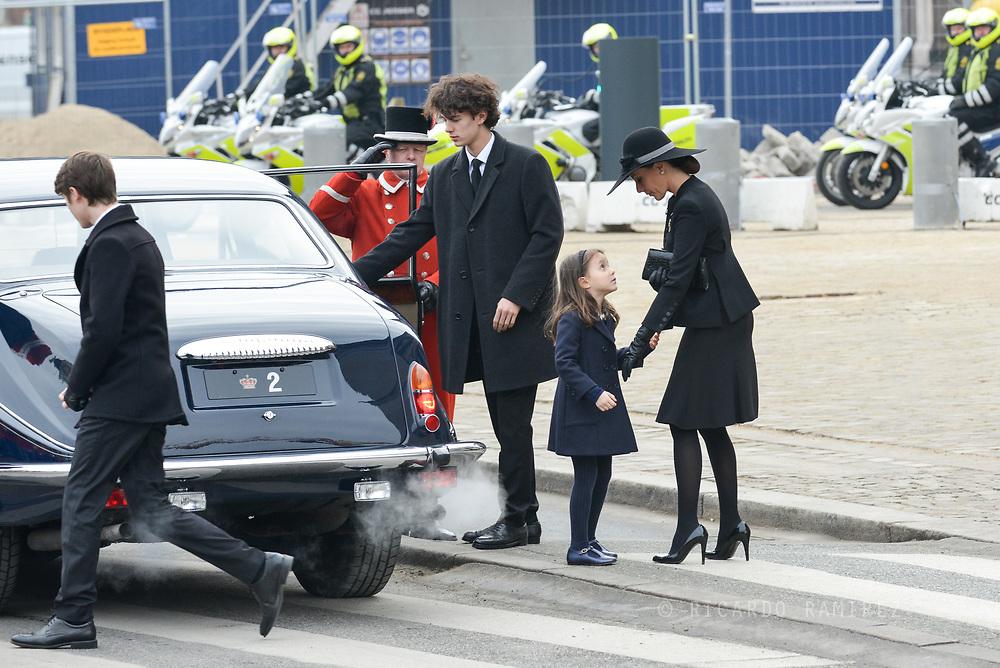 20.02.2018. Copenhagen, Denmark.<br /> Prince Nikolai, Princess Athena and Princess Marie leaves the Christiansborg Palace Church. <br /> Photo: Ricardo Ramirez.