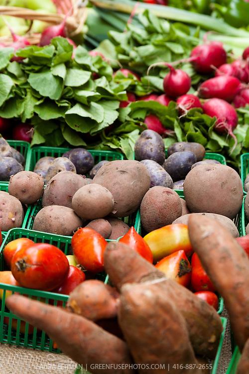 Fresh produce at a farmers' market.